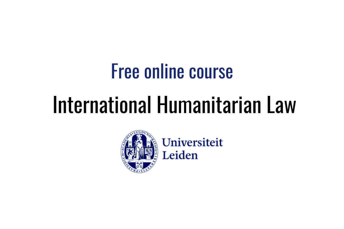 Free online course: International Humanitarian Law | Human Rights